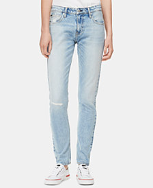 Calvin Klein Jeans CKJ 021 Ripped Straight-Leg Jeans
