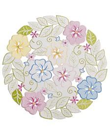 """Homewear Serenity Garden 16"""" Round Placemat"""