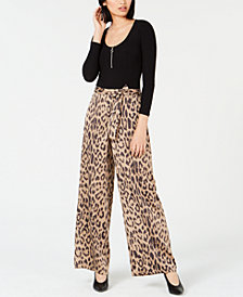 Bar III Bodysuit & Cheetah-Print Pants, Created for Macy's