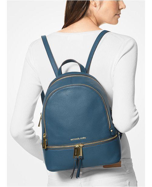 9d31fe959fdd Michael Kors Rhea Zip Small Pebble Leather Backpack   Reviews ...