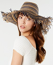 Steve Madden Textured Striped Sun Hat