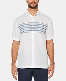 Cubavera Men's Stripe Short-Sleeve Linen Shirt