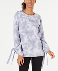 Ideology Tie-Dyed Tie-Sleeve Top, Created for Macy's