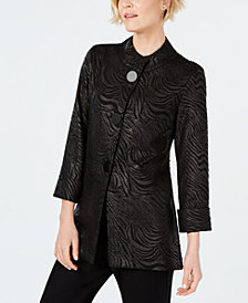 JM Collection Damask Swing Jacket, Created for Macy's