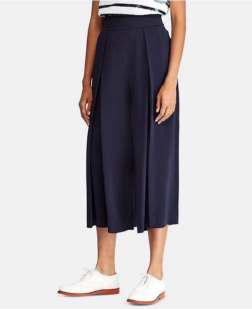 45672a28d0 Polo Ralph Lauren Pleated Wide-Leg Pants   Reviews - Pants   Capris ...