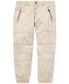 Polo Ralph Lauren Toddler Boys Twill Moto Cotton Jogger Pants