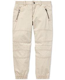 Polo Ralph Lauren Little Boys Twill Moto Cotton Jogger Pants