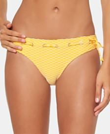 Jessica Simpson Textured Stripe Hipster Bikini Bottoms