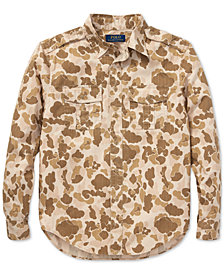 Polo Ralph Lauren Big Boys Camo Twill Cotton Shirt