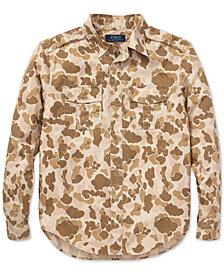 Polo Ralph Lauren Big Boys Camo Twill Cotton Shirt