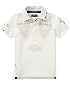 Polo Ralph Lauren Toddler Boys Mesh Graphic Cotton Rugby Shirt