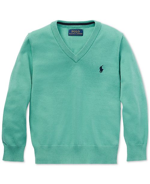 bacbe13eb75 Polo Ralph Lauren Little Boys Cotton V-Neck Sweater & Reviews ...