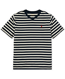 Polo Ralph Lauren Big Boys Striped V-Neck T-Shirt