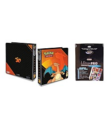 "Pokemon Charizard 2"" 3 Ring Binder Card Album with 100 Ultra Pro Platinum 9 Pocket Sheets"