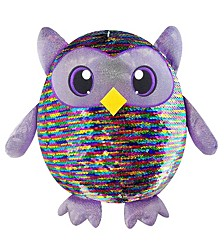 Shimmeez Large Size Leo Owl, Sequin Plush Stuffed Animal