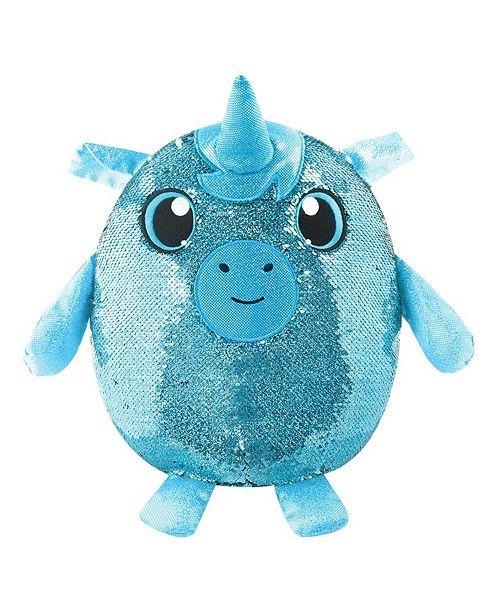 Ben Franklin Toys Shimmeez Large Size Yaffa Unicorn, Sequin Plush Stuffed Animal