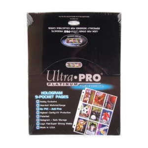 100 Ultra Pro Platinum 9 Pocket Sheets