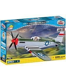 Small Army World War II North American P51 Mustang Plane 250 Piece Construction Blocks Building Kit