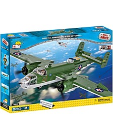 Small Army World War II B25 Mitchell Bomber Plane 500 Piece Construction Blocks Building Kit