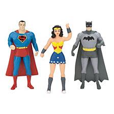 NJ Croce DC Comics Mini 3 Pack of Figures Batman, Superman, Wonder Woman