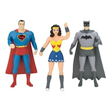 NJ Croce DC Comics Mini 3 Pack of Figures Batman, Superman, Wonder Woman