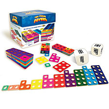 Junior Learning Ten Frame Towers Game Teaches counting numbers, visualizing numerals, and building number bonds