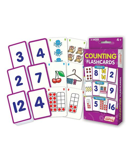 Junior Learning Counting Flashcards Animals, Objects and Ten Frames