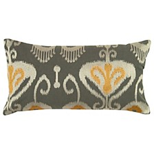 "11"" x 21"" Ikat with Flourishes Pillow Cover"