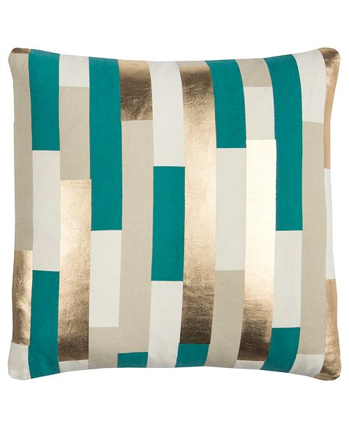 "Rizzy Home Rachel Kate 20"" x 20"" Striped Down Filled Pillow"
