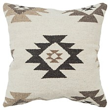 "Rizzy Home 22"" x 22"" Southwest Down Filled Pillow"