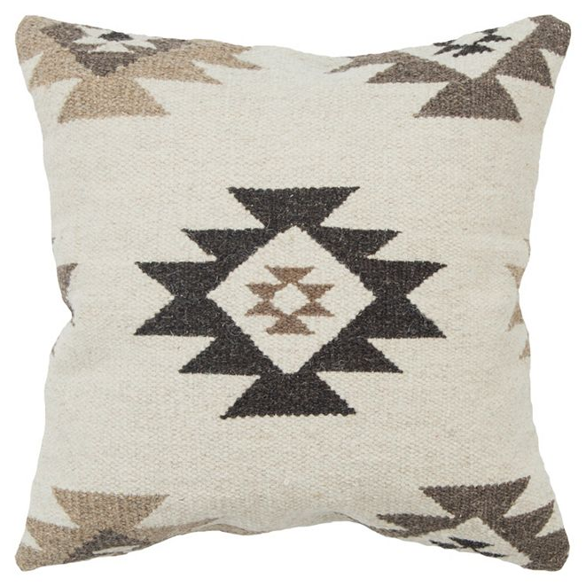 """Rizzy Home 22"""" x 22"""" Southwest Down Filled Pillow"""