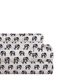 200 Thread Count Cotton Percale Printed Sheet Set Full