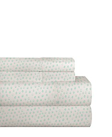 200 Thread Count Cotton Percale Printed Sheet Set