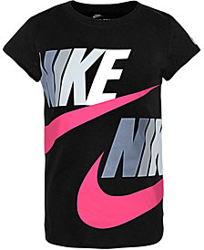 Nike Toddler Girls Futura Logo-Print Cotton T-Shirt