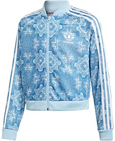 adidas Originals Big Girls Printed Cropped Track Jacket