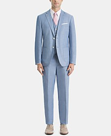 Men's UltraFlex Classic-Fit Chambray Suit Separates