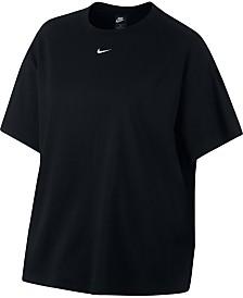 1f76e68ad73 Nike Plus Size Sportswear Essential Cotton Boyfriend-Fit T-Shirt
