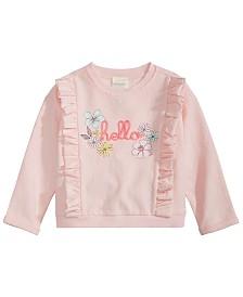 First Impressions Baby Girls Ruffled Hello Sweatshirt, Created for Macy's
