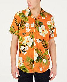 GUESS Men's J Balvin Vibras  Tropical Shirt