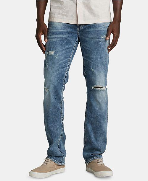 Silver Jeans Co. Men's Allan Slim, Straight-Fit Jeans