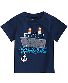 First Impressions Baby Boys Boat-Print T-Shirt, Created for Macy's