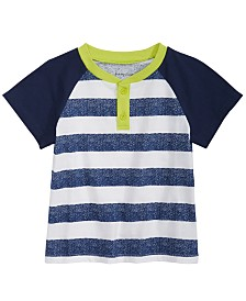 First Impressions Baby Boys Striped Raglan T-Shirt, Created for Macy's