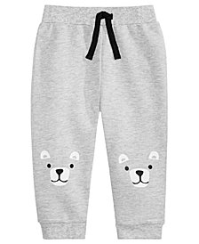 First Impressions Baby Boys Bear Knees Jogger Pants, Created for Macy's
