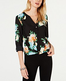 INC Cloud-Burst Floral Top, Created for Macy's