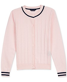 Tommy Hilfiger Toddler Girls Cabled Cardigan