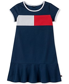 Little Girls Pique Logo Dress