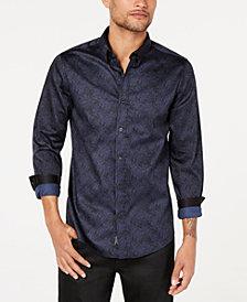 GUESS Men's Luxe Cyber Terrain Shirt