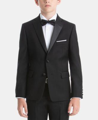 로렌 랄프로렌 Lauren Ralph Lauren Big Boys Tuxedo Jacket,Black