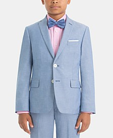 폴로 랄프로렌 보이즈 자켓 Lauren Ralph Lauren Big Boys Cotton Suit Jacket,Light Blue