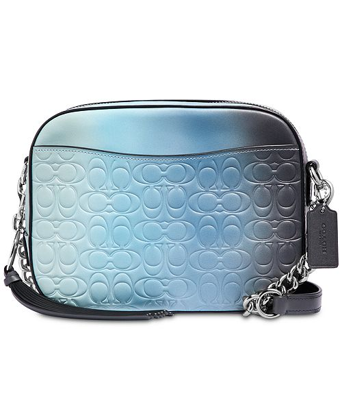 COACH Camera Bag in Ombré Signature Leather